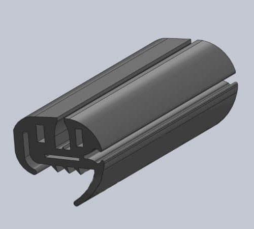 Уплотнитель лобового (ветрового) стекла Богдан A-093/093, ПР-116, L-6,85м. (Украина)