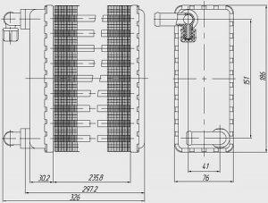 Радиатор отопителя салона Богдан A-093 Атаман (Промтрансэнерго)
