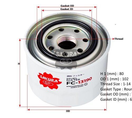 Фильтр топливный тонкой очистки Hino 300 E4, FC-13190