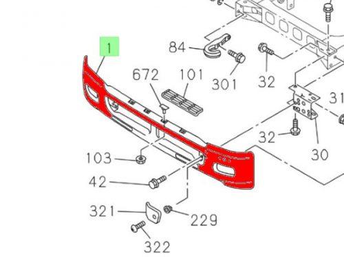Бампер передний ISUZU FSR90, FSR34